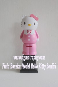 Piala Boneka Model Helo Kitty Berdiri