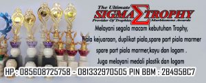 Jual Piala Kejuaraan seperti Piala Bupati, Piala Balap Motor, Harga trophy Badminton.