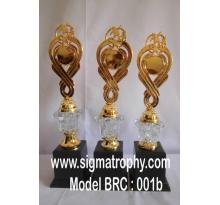 Piala Bernuansa Crystal dan Marmer, Trophy Crystal Murah- BRC-001b