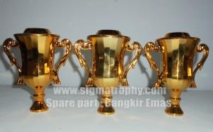 Bagian Trophy plastik, Model Bagian Piala Plastik Cangkir Emas