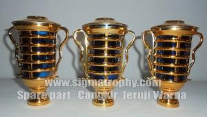 Cangkir Jeruji Warna, Spare part Trophy plastik ,Model Spare part Piala Plastik